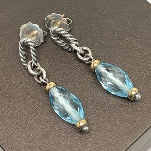 DAVID YURMAN Figaro Blue Topaz Earrings